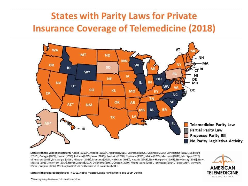 Telemedicine_Parity_Law_Map_05212018