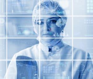 Woman doctor in telemedicine health concept
