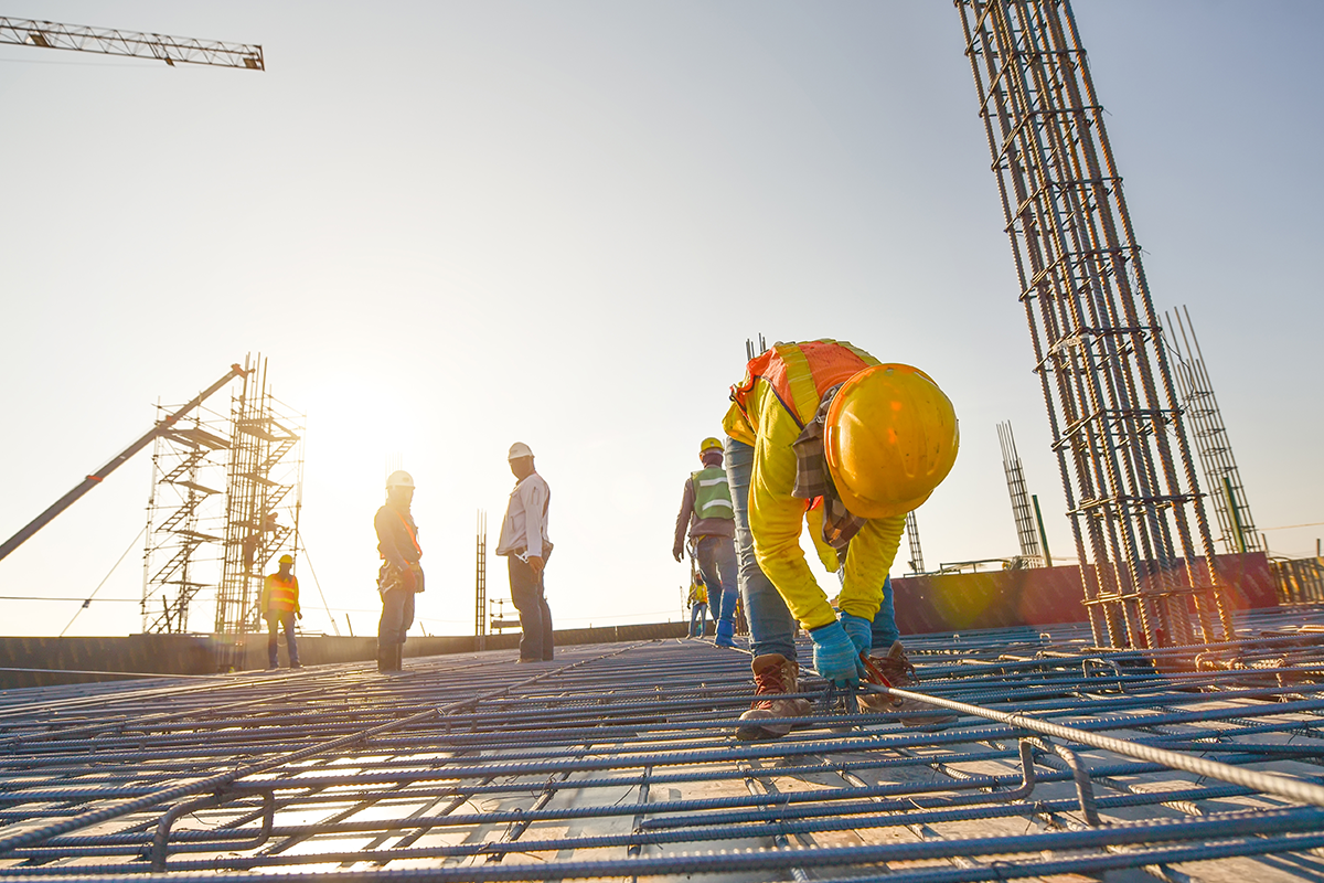 Jobsite protected by Ortholive that gets injured employees back to work quickly and safely.