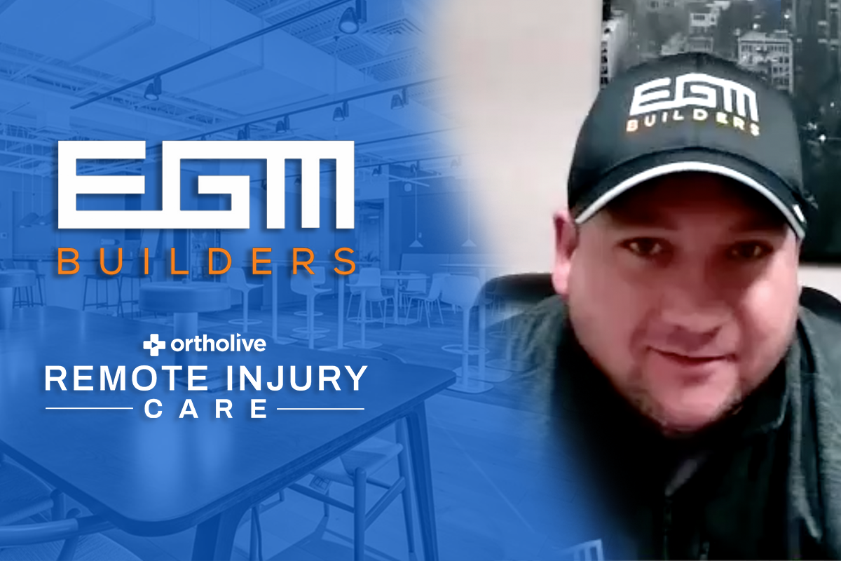EGM Builders Ortholive Testimonial about getting injured employees back to work quickly