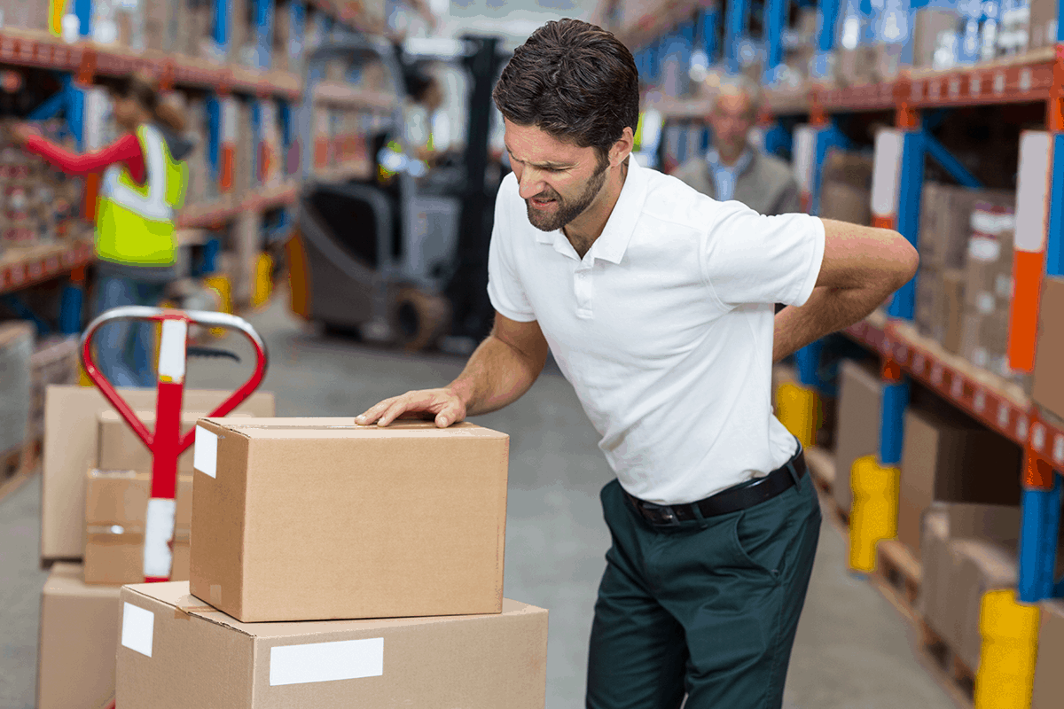 Warehouse employee with Musculoskeletal Disorders in the Workplace